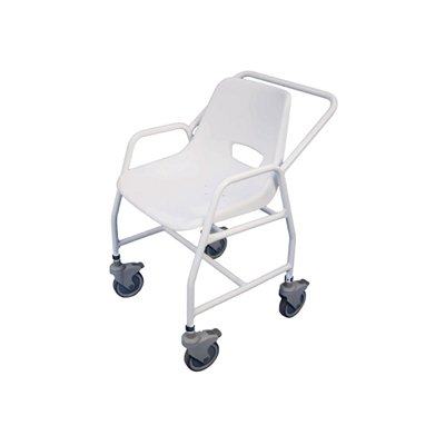 Hythe Mobile Shower Chair with 4 Castors (Height Adjustable)