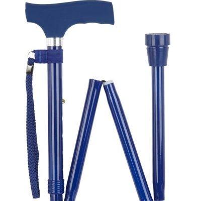 Navy Blue Silicone Handle Folding Stick