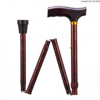 Folding Adjustable Walking Stick- Birds Eye