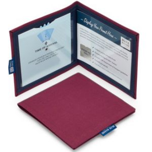Blue Badge Permit Cover- Burgundy