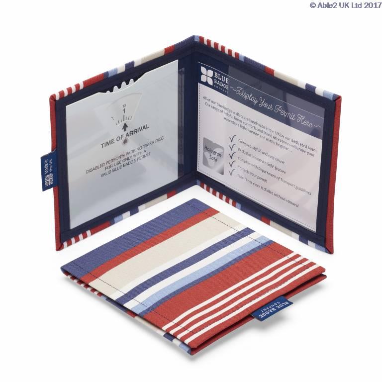 Blue Badge Permit Cover- Steller Strip