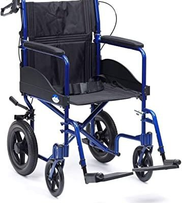 Expedition Plus Transit Wheelchair Blue